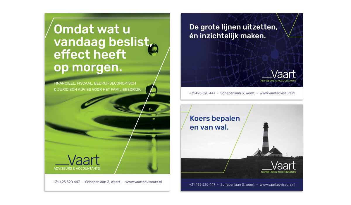 VAART Adviseurs en Accountants Weert - ontwerp advertenties