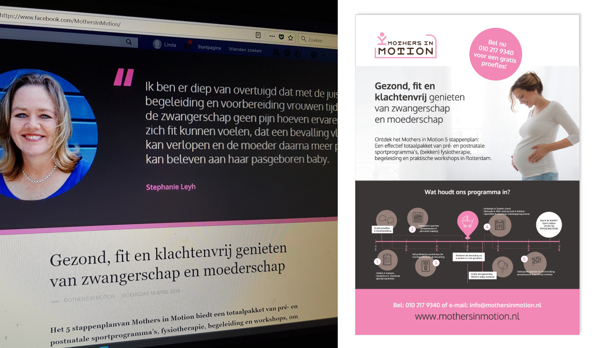 webdesign - Mothers in Motion Rotterdam